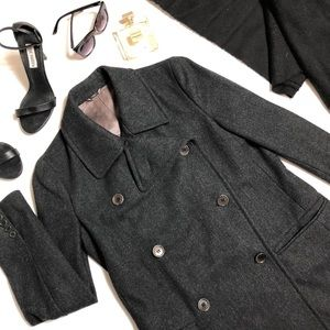 Helmut Lang Double Breasted 100% Wool Coat Jacket